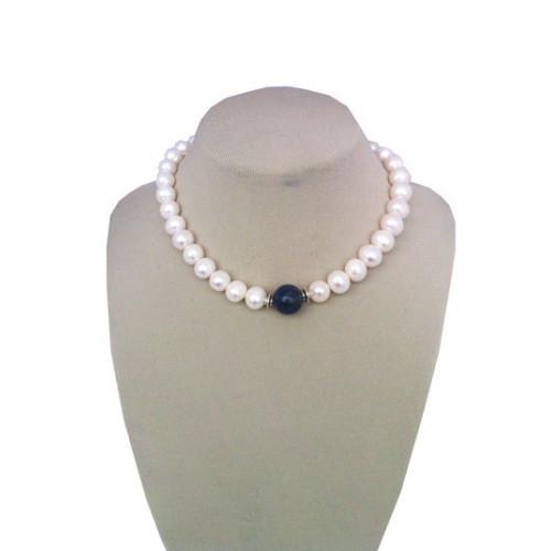 Colier Perle si Lapis Lazuli