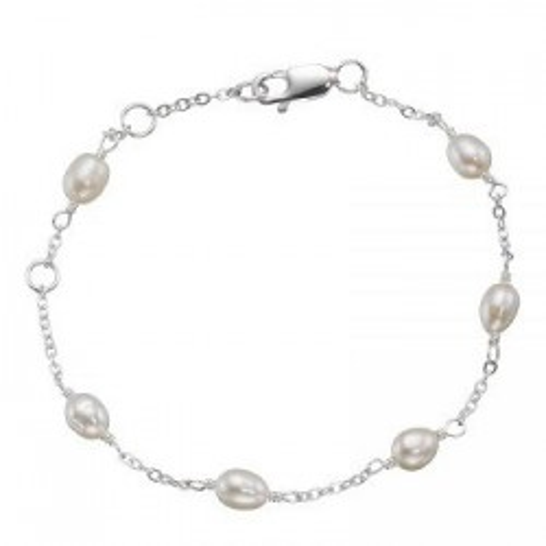 Bratara de argint cu perle