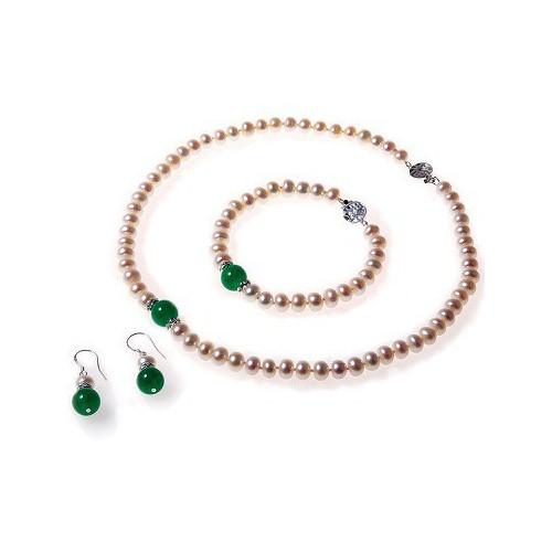 Set  Perle Naturale si Jad