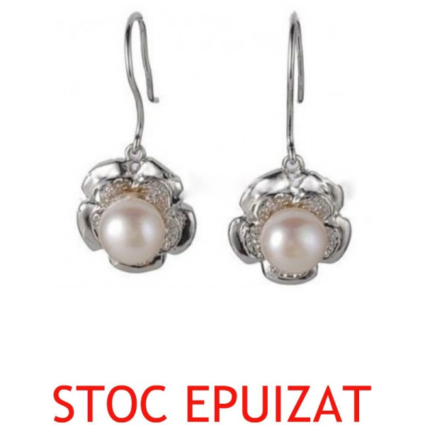 Set din Argint si Perle Visinii