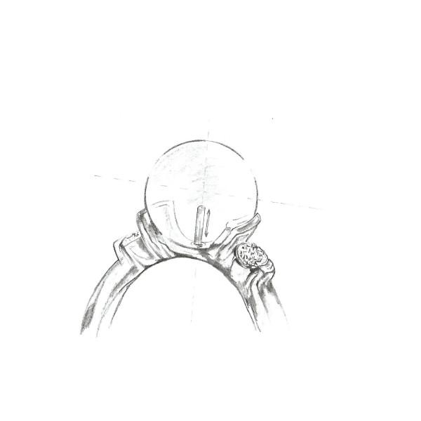 Brosa/ Pandantiv Libelula cu Perla Alba