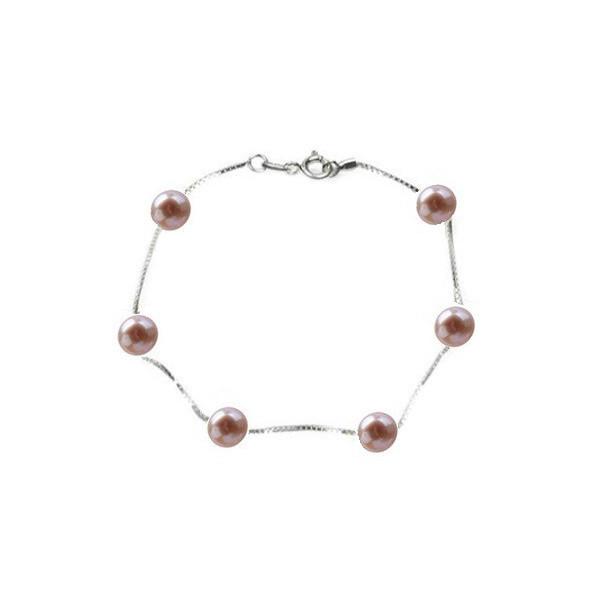 Colier Bulgaras cu perle Lavanda