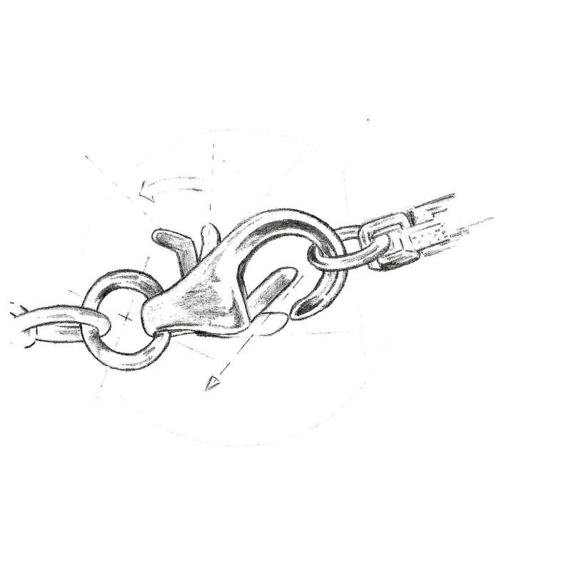 Colier de Argint cu Perla Neagra AA