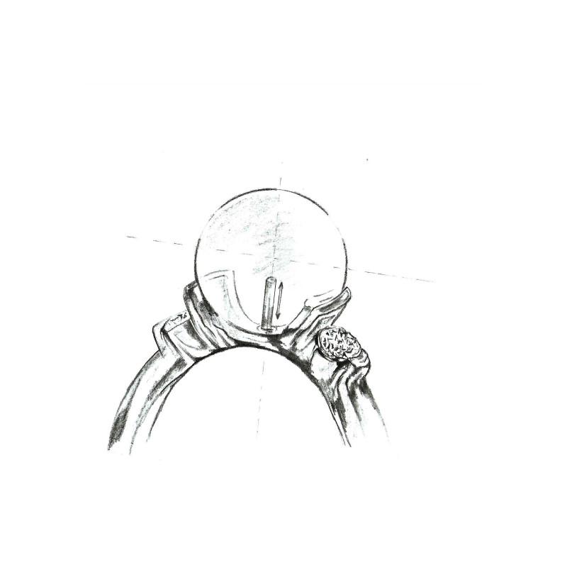 Bratara dubla cu perle negre