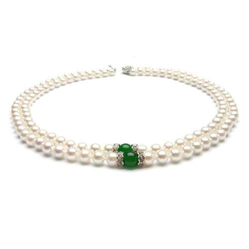 Colier Perle cu Jad
