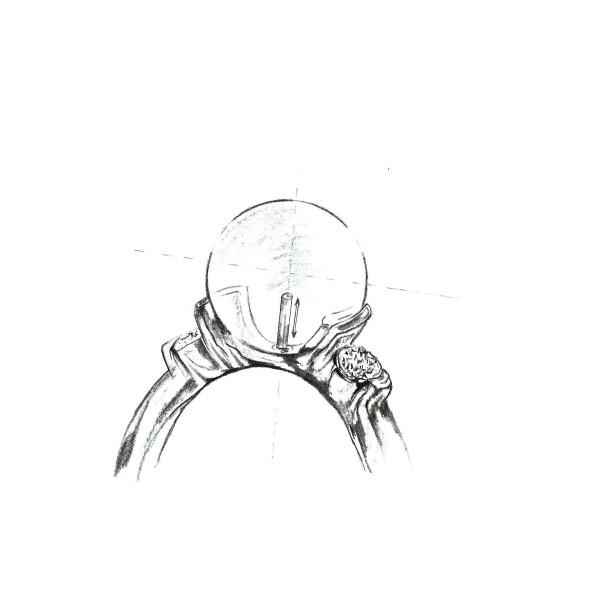 Pandantiv Aur cu Perla Lavanda AAA+