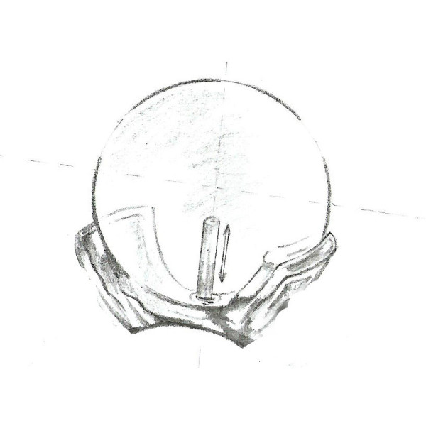 Pandantiv Argint Teardrops Crem