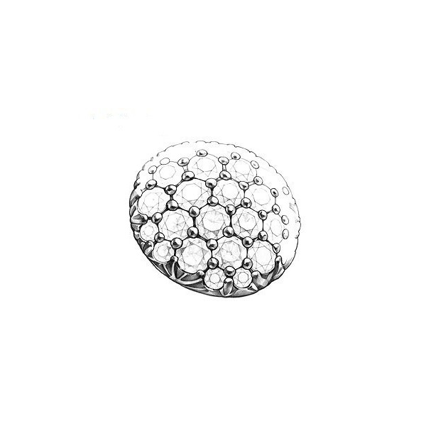 Pandantiv Argint Teardrops Negru