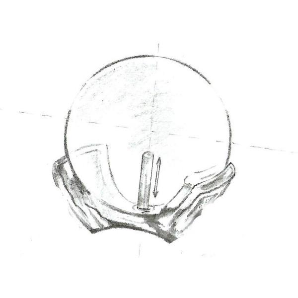 Pandantiv Aur Perla Ovala Lavanda