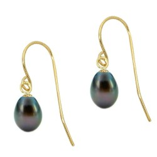 Cercei de Aur cu Perle Negre