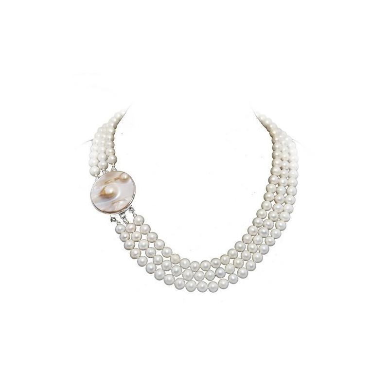 Cercei de Argint Fluture cu Perla Crem