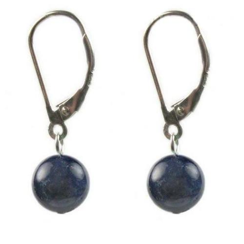 Cercei Lapis Lazuli 8 mm cu...