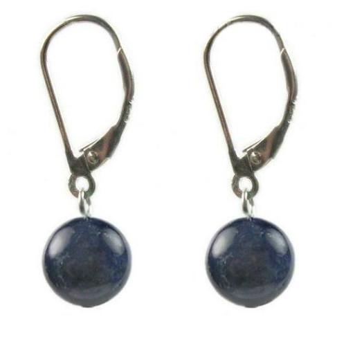 Cercei Lapis Lazuli 10 mm...