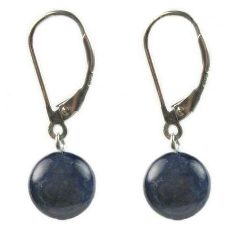 Cercei Lapis Lazuli 12 mm...