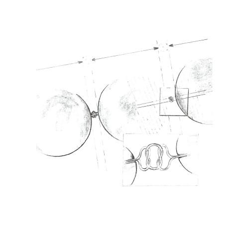 Pandantiv Argint Rotund Alb