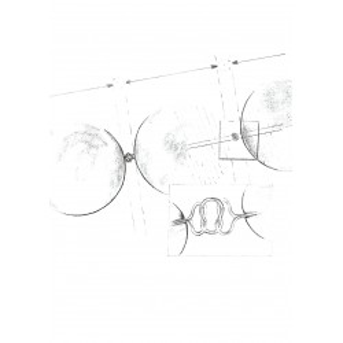 Pandantiv Argint Rotund Negru