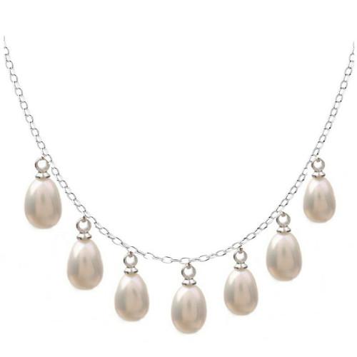 Colier Silver Queen Perle Albe