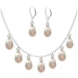 Set Silver Queen Perle Albe