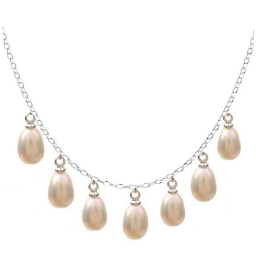 Colier Silver Queen Perle Crem