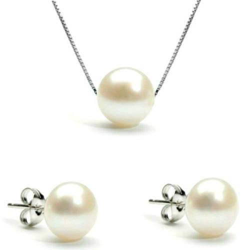 Set Argint si Perle...
