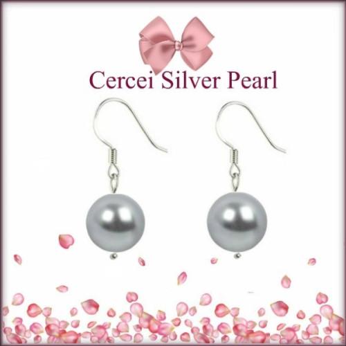 Cercei Silver Pearl