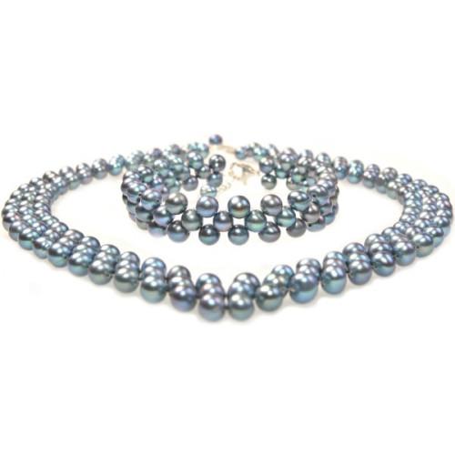 Cercei Lapis Lazuli 12 mm cu Tortite Argint Inchise