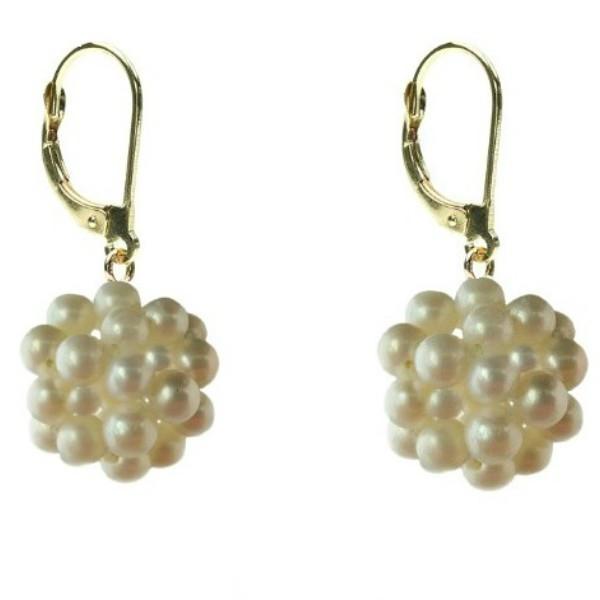 Bratara dubla cu perle albe