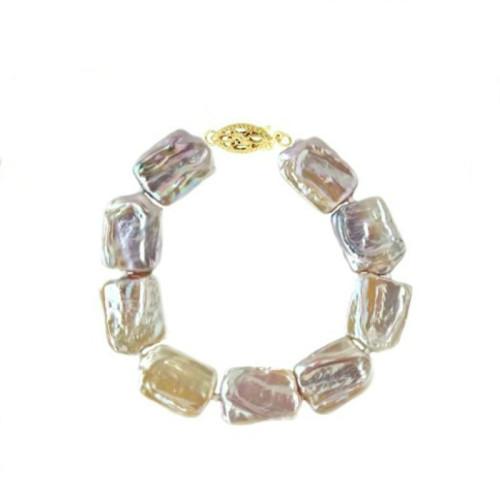 Cercei Argint si Perle Naturale Lila de 8 mm