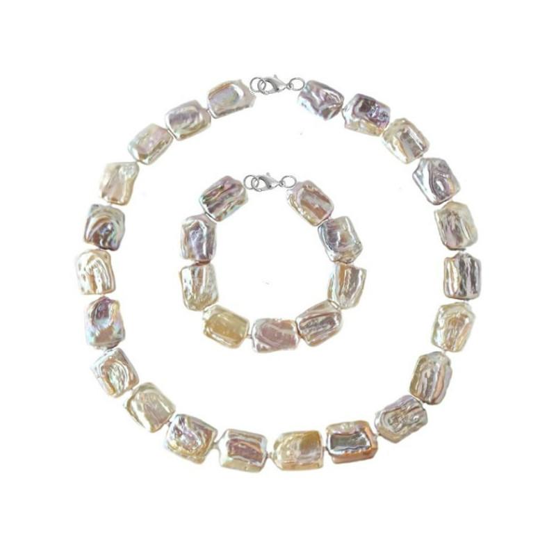 Colier Extravagance cu perle roz de 8-9 mm