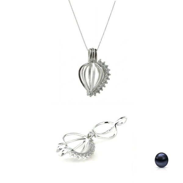 Set Argint si Perle Naturale Lacrima