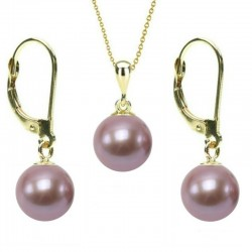 Colier Extravagance cu perle albe de 8 mm