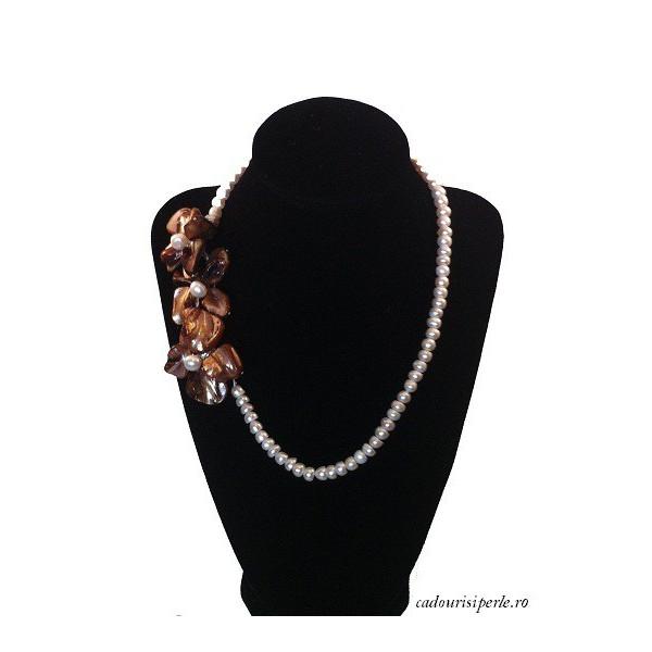 Colier de Argint cu Perla Alba AA