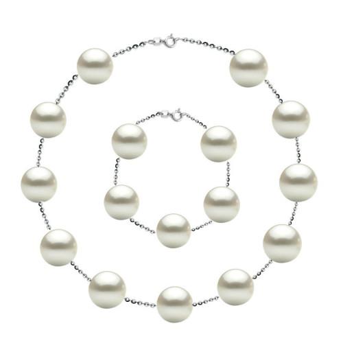 Colier Perle Akoya cu Inchizatoare Aur Alb