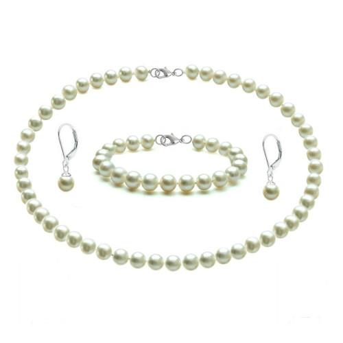 Set Argint cu Perle...
