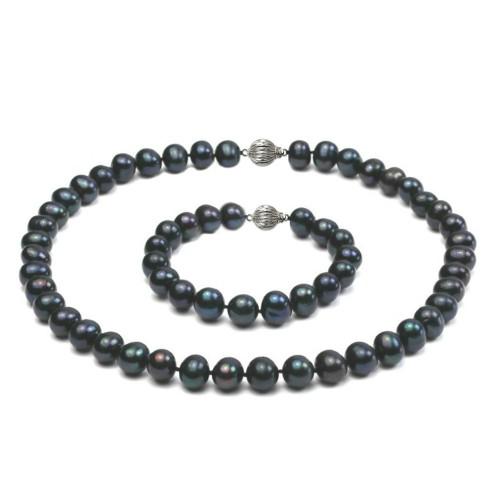 Set Perle Naturale Negre...