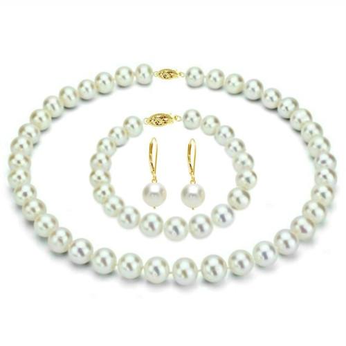 Set Clasic Perle Naturale Ruginii
