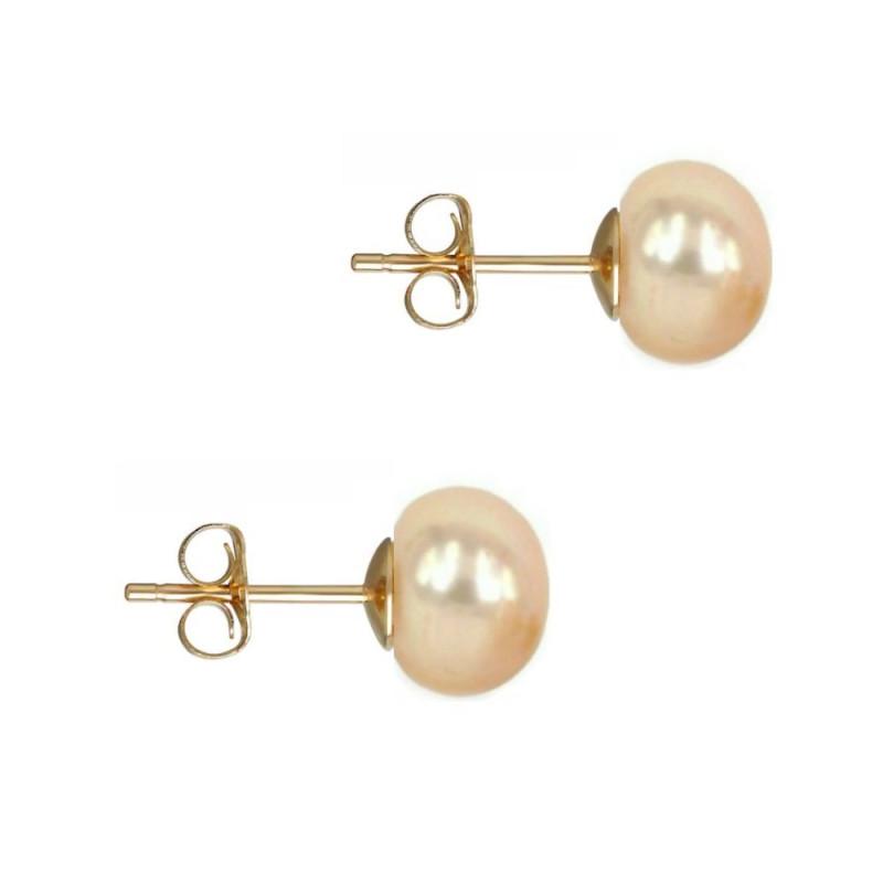 Inel Argint cu Perla Naturala Crem de 13-14 mm