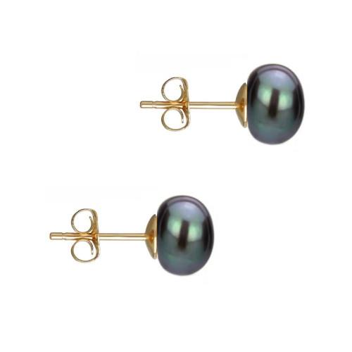 Creole Aurii cu Perle Teardrops Albe