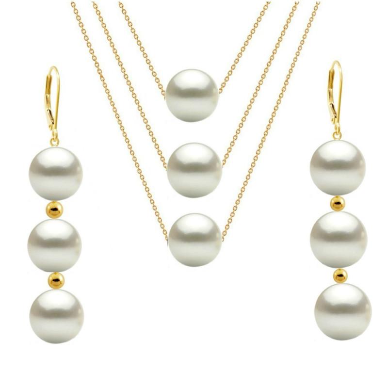 Cercei Aur cu Perle Naturale AAA
