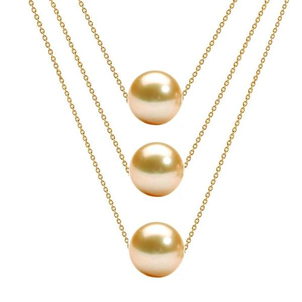 Cercei Aur Tripli cu Perle Naturale Akoya