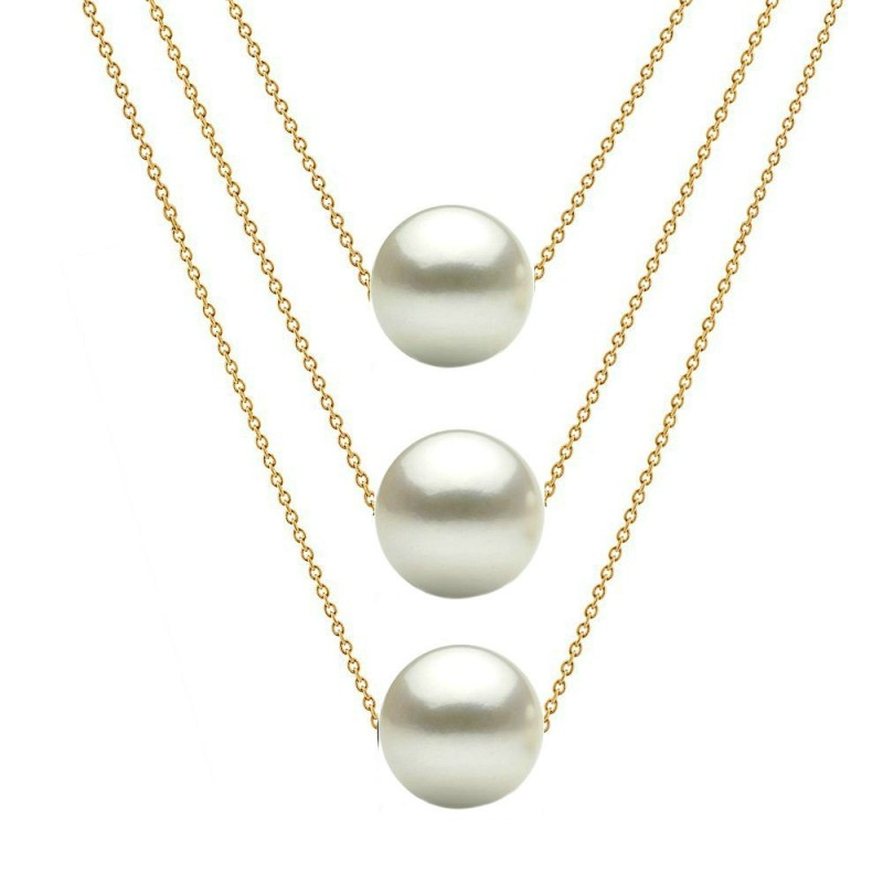 Brosa Romana cu Perle Naturale Crem