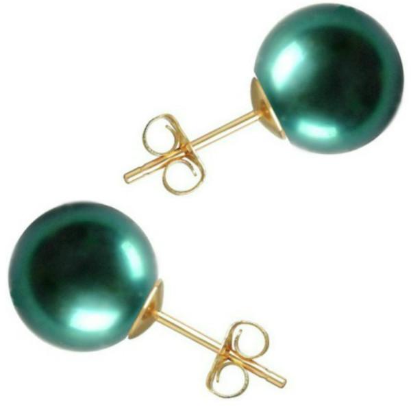 Cercei Aur Lungi cu Perle Tahitiene de 13 mm