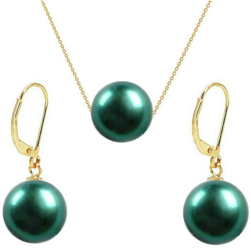 Set Aur si Perle Tahitiene 13 mm