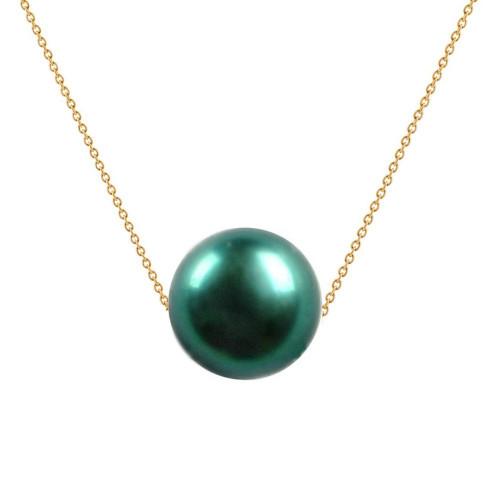 Set Aur si Perle Tahitiene 13 mm 2