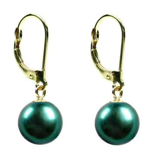 Cercei Aur cu Perle Naturale Akoya de 7-8 mm