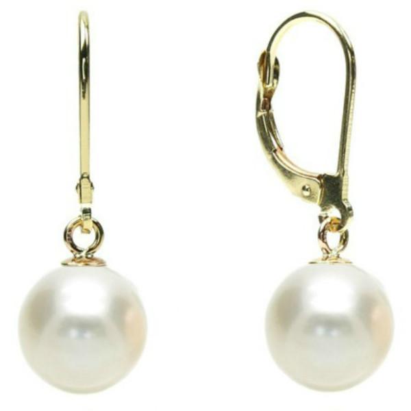 Colier Perle Premium Akoya de 7,5-8 mm cu Inchizatoare de Aur