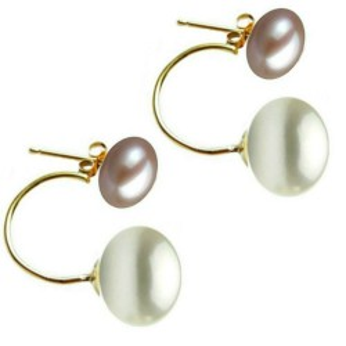 Cercei Argint Bulgarasi Perle Naturale Albe