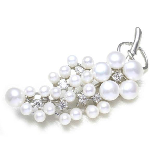 Set Aur 14 k cu Perle Naturale Albe