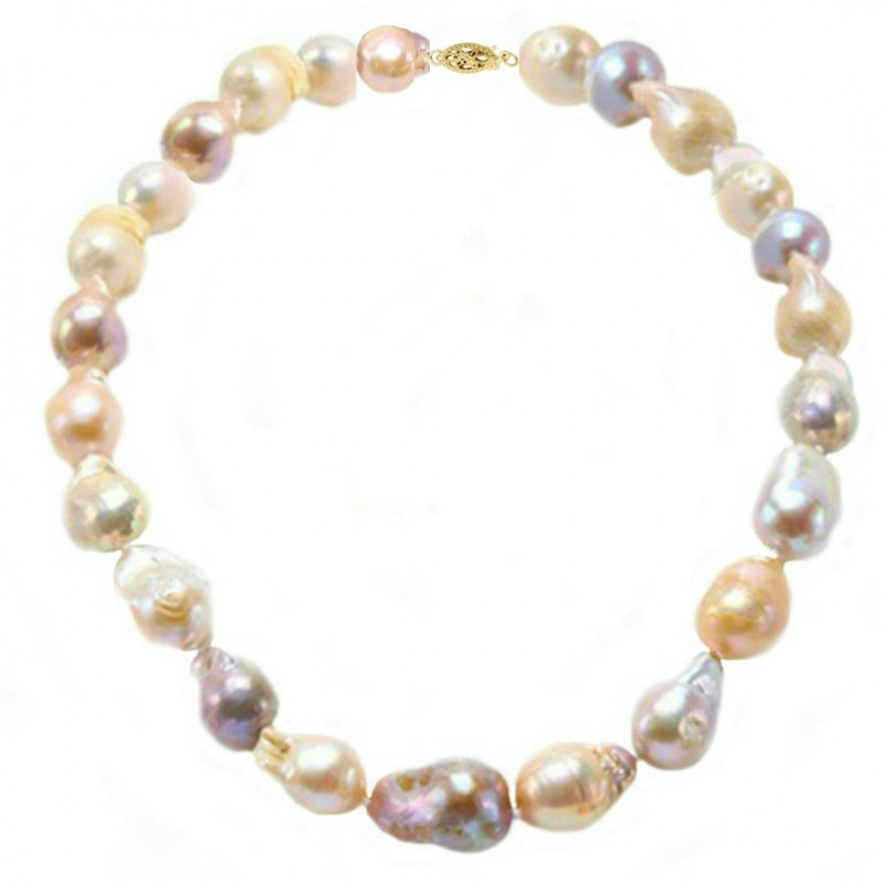 Set Aur Alb 14 k cu Perle Naturale Verde Smarald