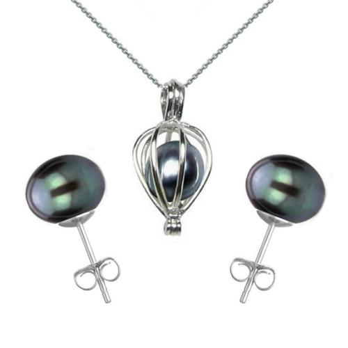 Cercei Double de Aur de 14k cu Perle Naturale Lavanda